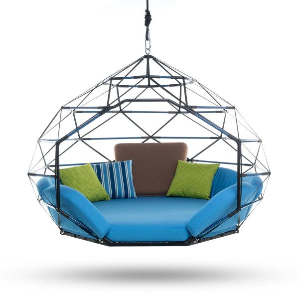 Kodama Zomes: Hanging Geodesic Seats & Beds