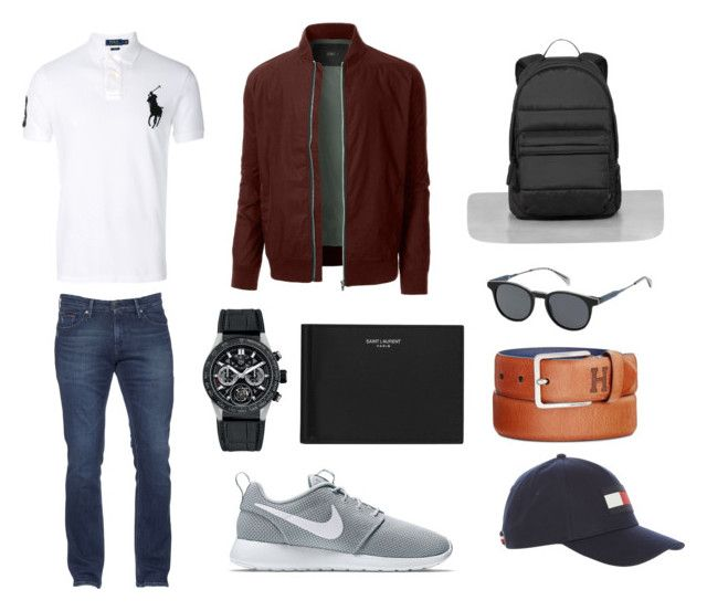 """""""Holidays"""" by ricardo-rodriguez-hernandez on Polyvore featuring Polo Ralph Lauren, LE3NO, Tommy Hilfiger, NIKE, TAG Heuer, Yves Saint Laurent, AllSaints, men's fashion y menswear"""