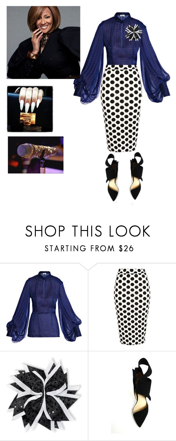 """""""Dorinda Clark Cole singing at BMI!!!"""" by cogic-fashion ❤ liked on Polyvore featuring Yves Saint Laurent and River Island"""