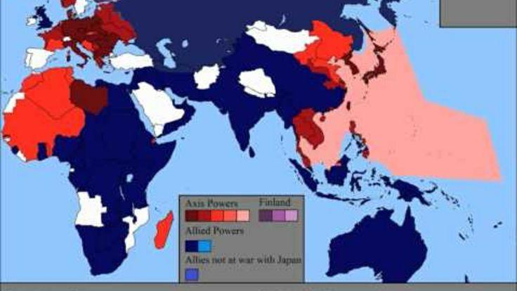 Bekijk in deze zogenaamde Time Laps het verloop van de Tweede Wereldoorlog. Zeer nauwgezet weergegeven.