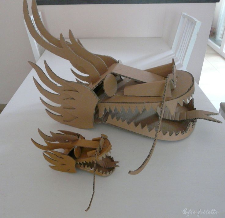 T tes de dragon dragon heads for Cardboard dragon template