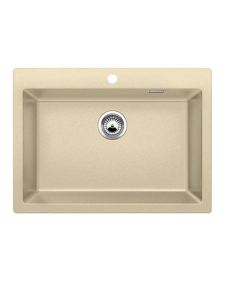 Sink Pleon 8 Champagne A sink with a large trough that will allow you to easily wash in larger utensils such as a pan. It is combined with many accessories which will further facilitate your work.