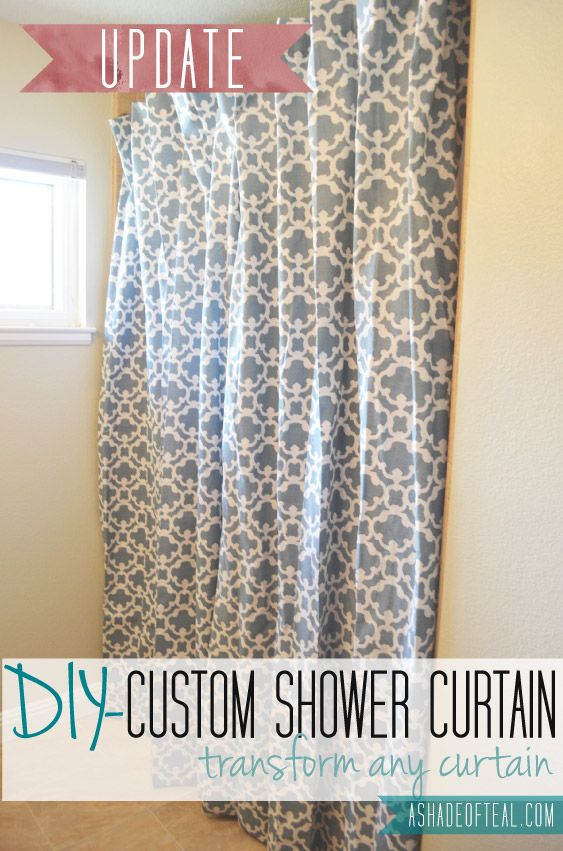 Update: Making An Extra Long Shower Curtain From Any Curtain