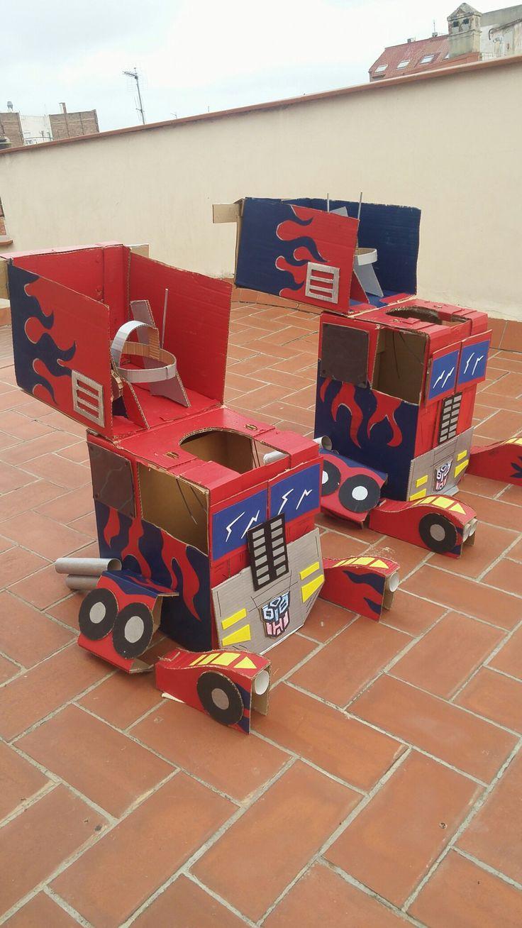 Disfraz transformer www.manualidadesdepili.com