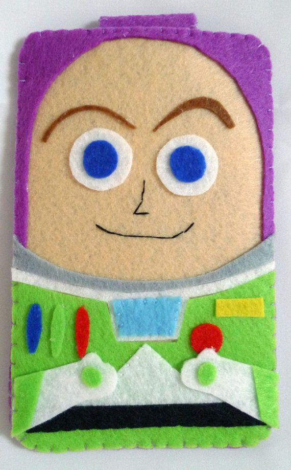 Toys Story collection Handmade Buzz Lightyear iphone, iphone 4S felt cell phone case (FREE SHIPPING)