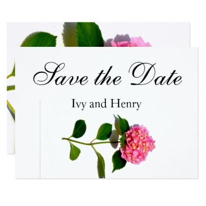 Pink hydrangea card - romantic wedding gifts wedding anniversary marriage party
