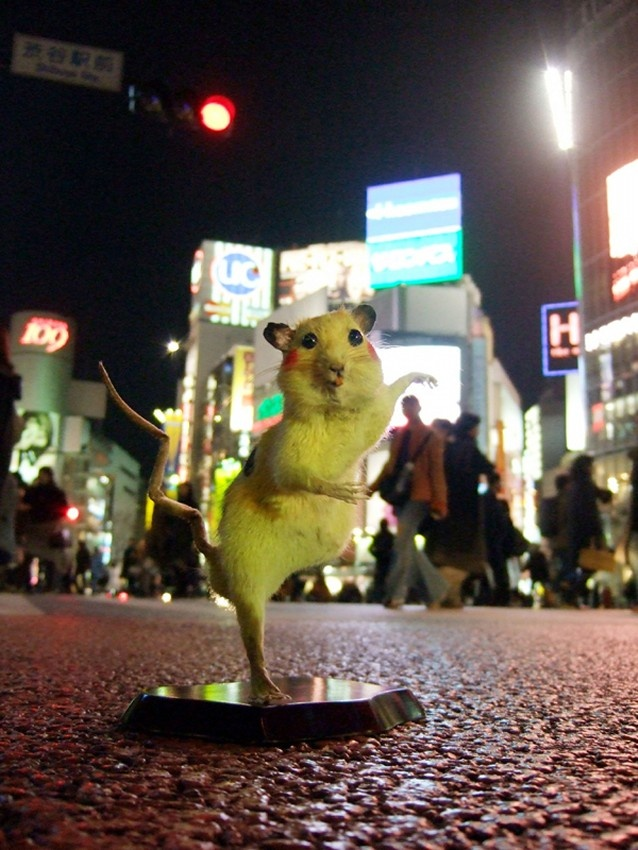 Super Rat - By Japanese art collective Chim Pom