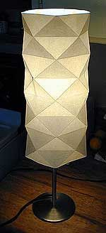 Origami Lampshade - folding the paper accurately is key.  Comes with detailed instructions.