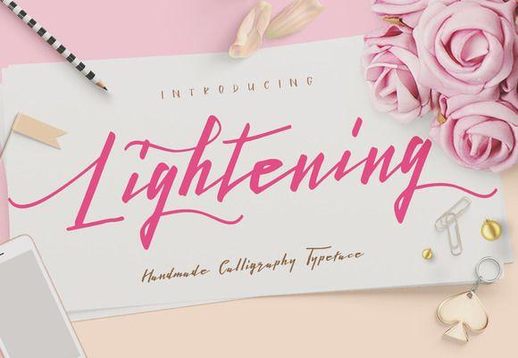 Lightening Script - Font Duo by Dirtyline Studio on @creativemarket