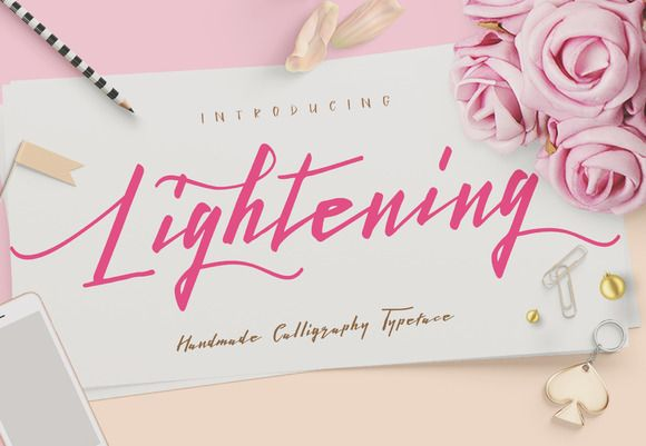 Lightening Script - Font Duo by Dirtyline Studio on @creativemarket