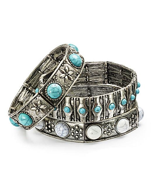 Turquoise Stone Bangle Pack   Fifty Plus