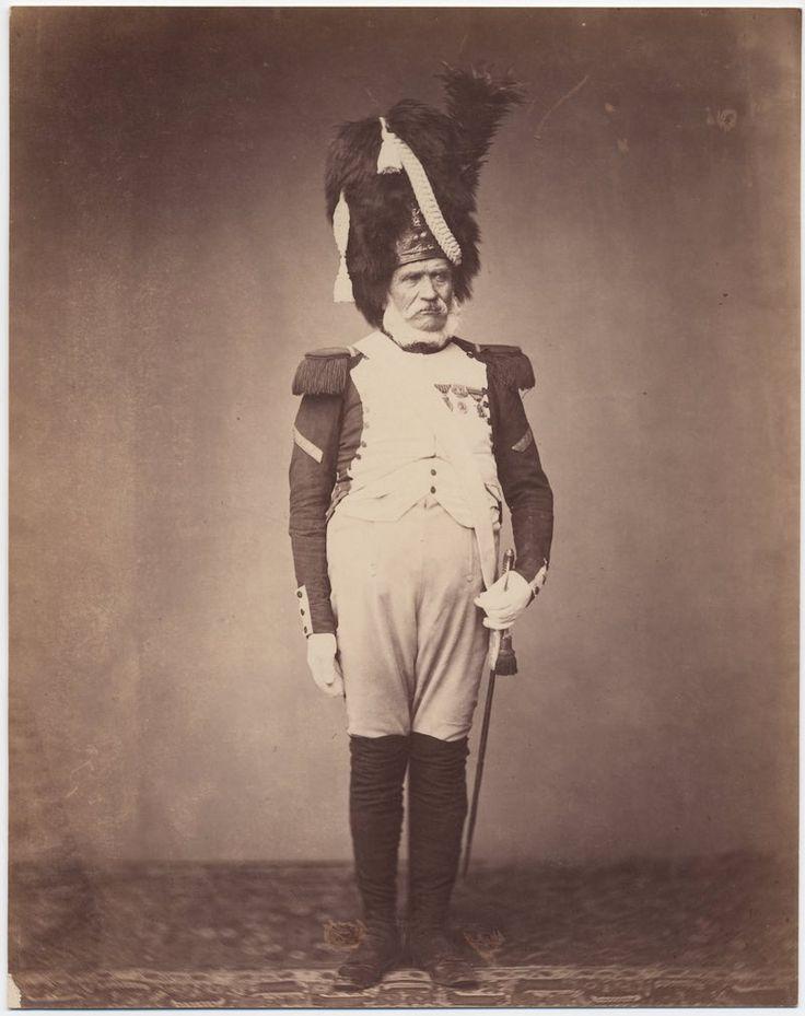Grenadier Burg, 24th Regiment of the Guard, 1815  The only surviving images of veterans of the Napoleonic Wars