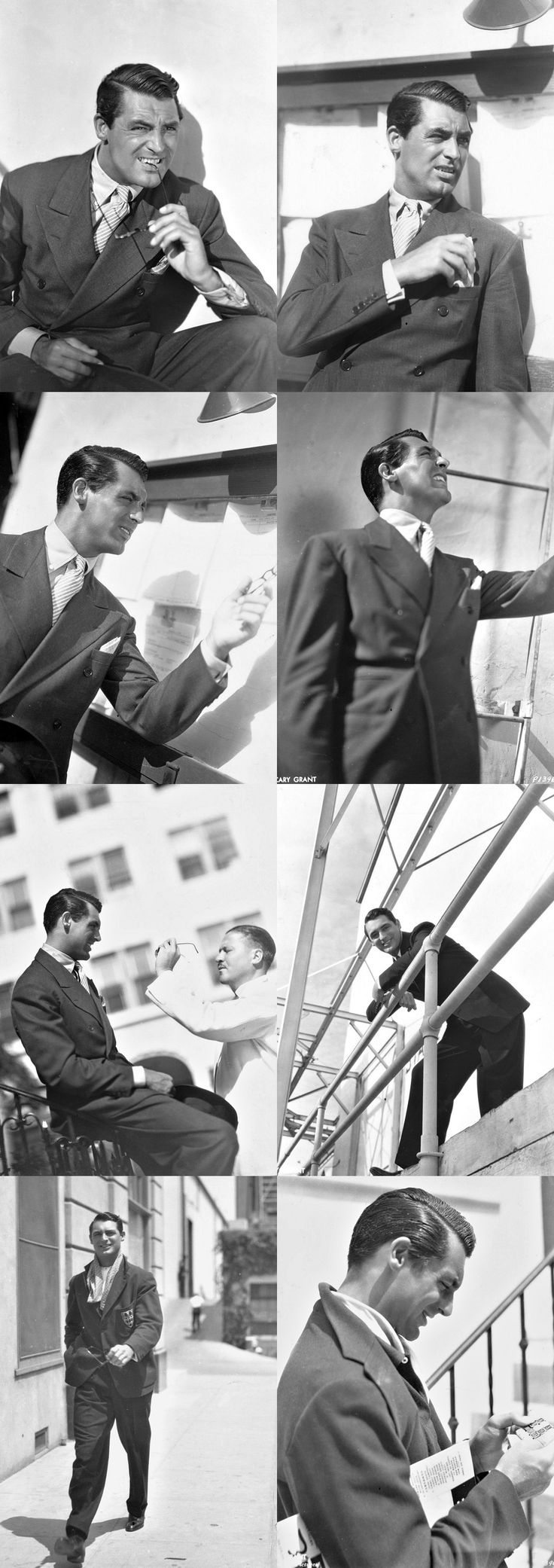 Cary Grant photo-shoot on the Paramount Studios lot, c. early 1935