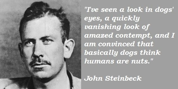 haha. probably true ;)     John Steinbeck Quote