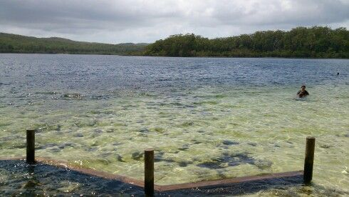 Lake Mackenzie,  Fraser Island.  Sublime freshwater lake.