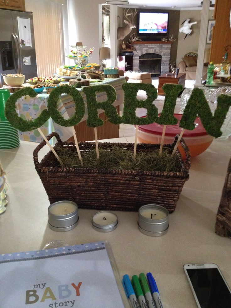 woodland creature themed baby shower sign made by me carter