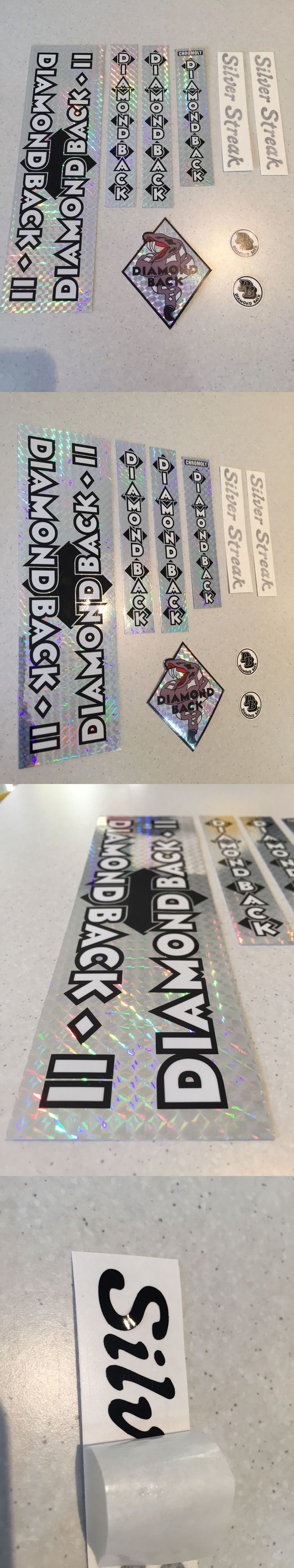 Vintage Bicycle Parts 56197: Diamondback Silver Streak Decals Sticker Set Suit Your Old School Bmx Black -> BUY IT NOW ONLY: $49.0 on eBay!