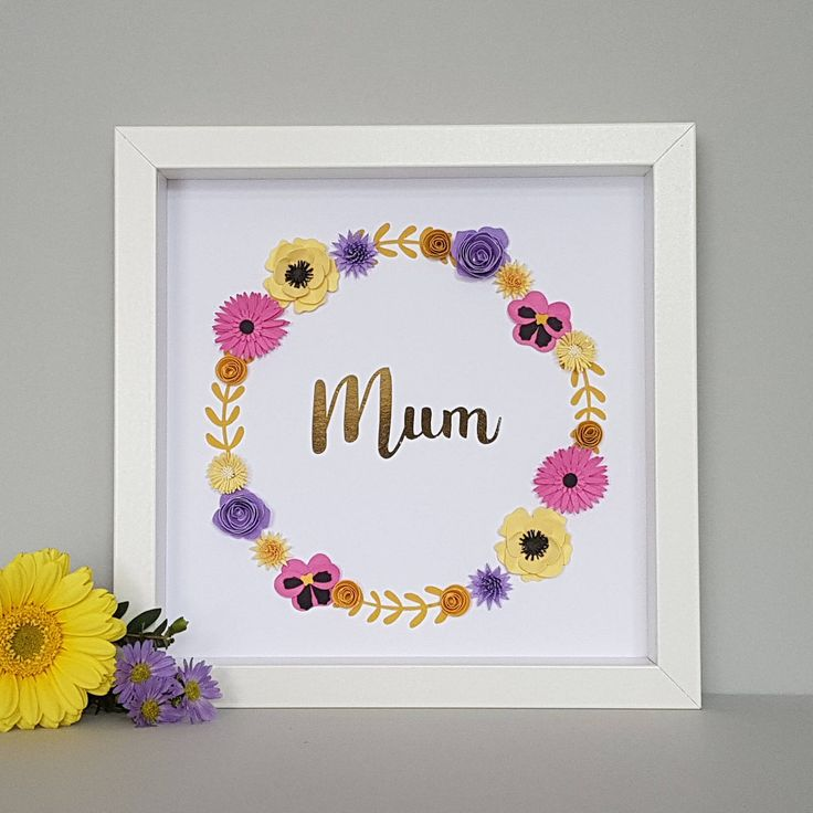 Unique Birthday Gift for Mum, Handmade Mothers Day Gift, Floral Art Picture, Birthday Present, Gift for Her, Rose Gold Typography by Lilliputbelle on Etsy https://www.etsy.com/uk/listing/530956869/unique-birthday-gift-for-mum-handmade