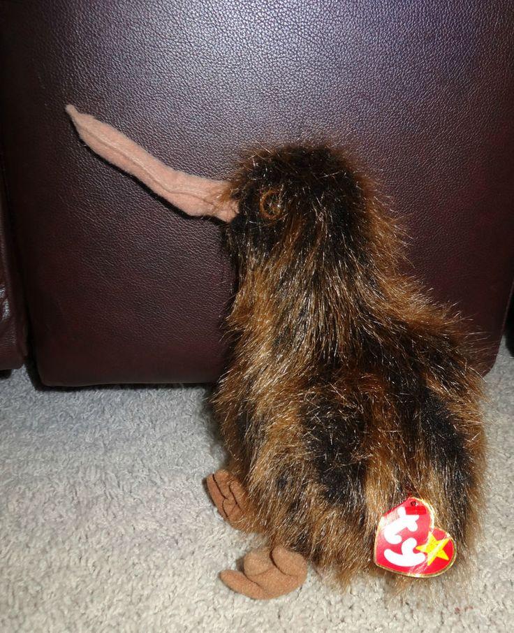 TY Beanie Buddy Beak Kiwi Bird Stuffed Large Brown Plush - MINT - JB #Ty