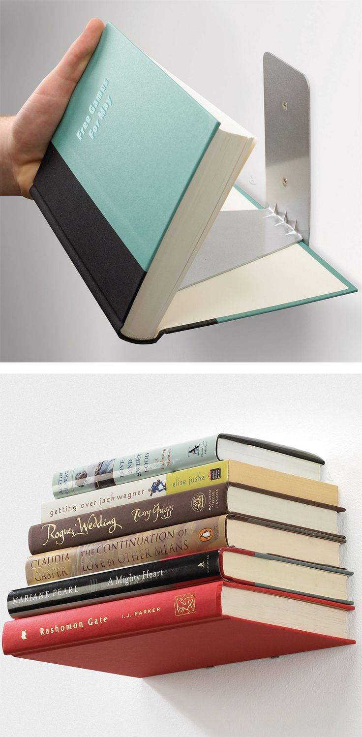 Conceal wall mounted shelf // gives your books the appearance of floating in mid-air! Clever! #product_design #furniture_design