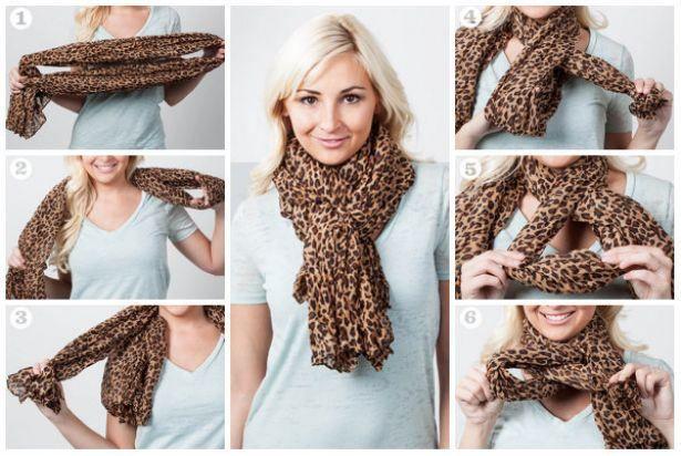 Forma de anudar una bufanda.