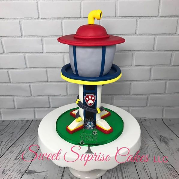 Paw Patrol Lookout Tower Cake Topper Sweet Suprise Cakes ...