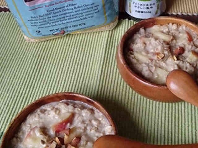 冬の朝食♪ミューズリーでホッとな朝食♪    きびオリゴでお腹もすっきり♪朝の時間がない時にはロールドオーツ・クイックタイプがお勧めです♡