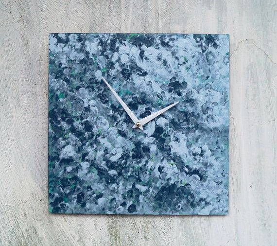 Wooden wall clock abstract flowers  Flowers от ClockArtVintage