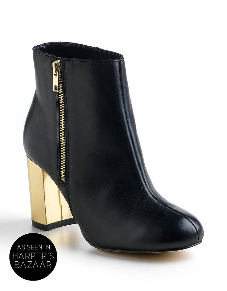 Exelda Leather Ankle Boots | Lord and Taylor #RunwayReport