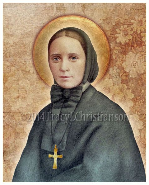 St. Frances Xavier Cabrini, Mother Cabrini Art Print, Catholic Patron Saint #4083