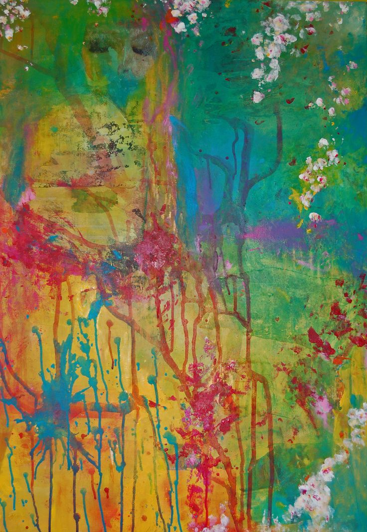 Dream on, acrylic, mixed media