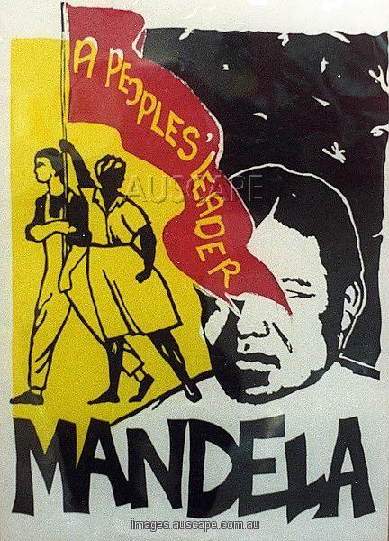 african national congress poster promoting nelson mandela