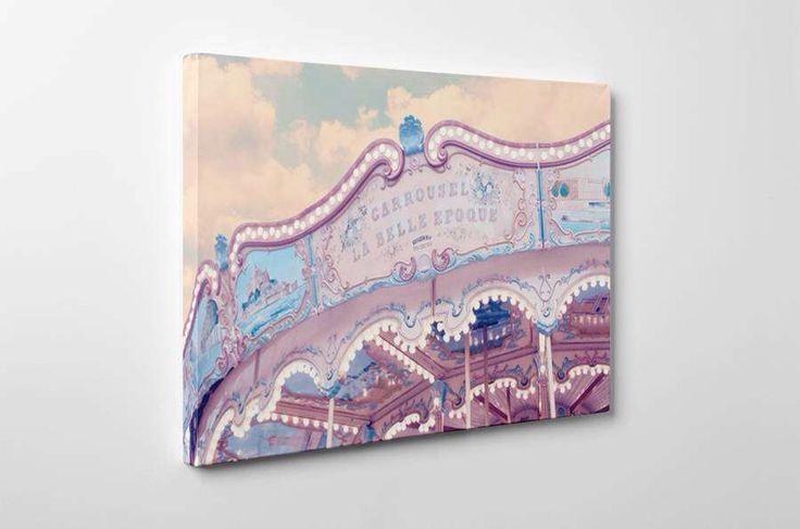 I've just found Paris Carousel Print Canvas Wrap. This stunning canvas art print features the Belle Epoque Carousel in Hotel De Ville Paris.. £35.00