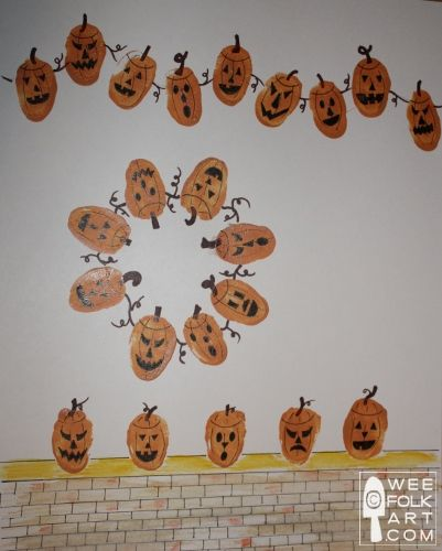 Thumbprint Pumpkins