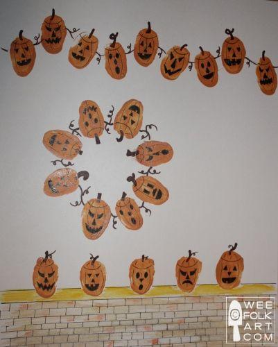 Thumbprint Pumpkins