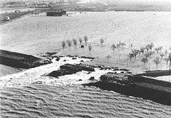 Flood in Zeeland 1953... the Netherlands. ..