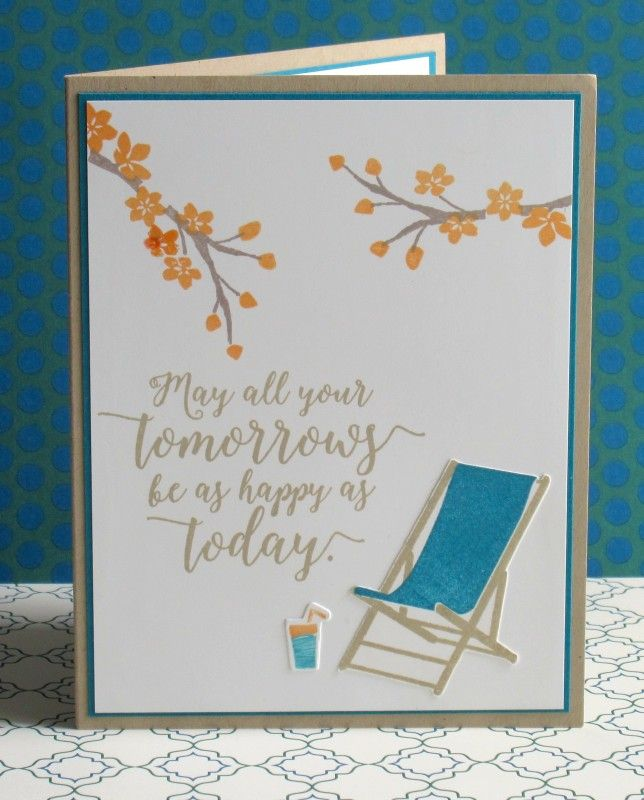 This is a retirement card for a former coworker... I can picture Wanda happily relaxing with a cold beverage!