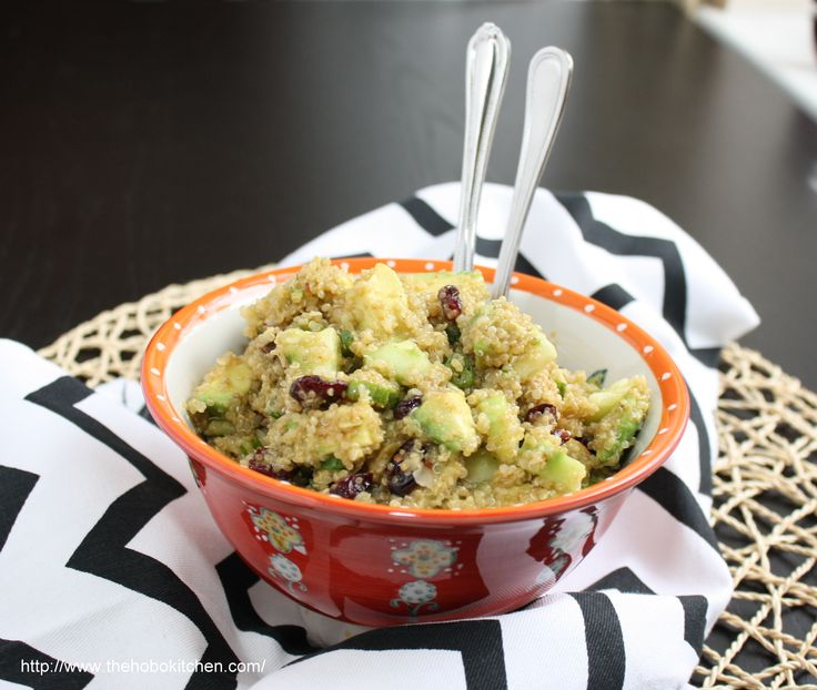 Quinoa Salad with Avocado, Cucumber, and Cranberries