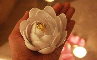 witte lotus met behulp van plastic lepels, ambachten, bloemen, home decor, vijvers waterpartijen