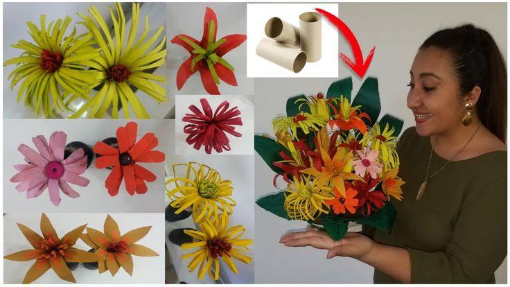 1983 best images about como hacer flores de papel on - Manualidades con rollos de papel ...