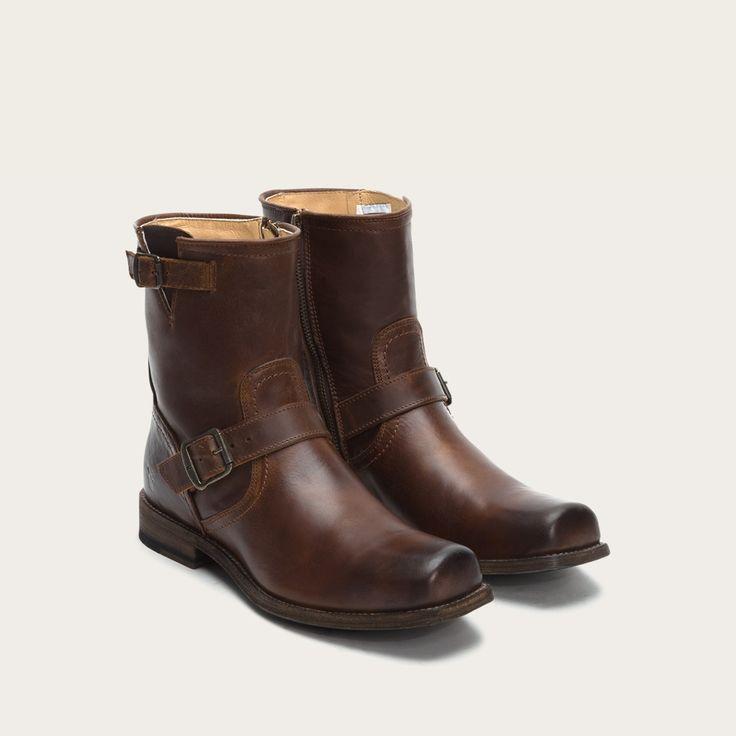 2017 Reliable Nunn Bush Park Falls MediumWide Plain Toe Boot Brown Leather