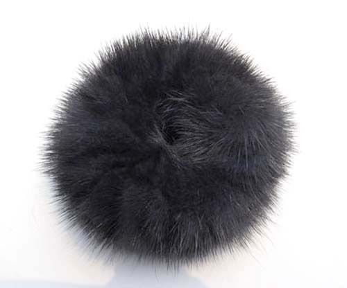 100% Handmade Real Genuine Soft MINK Fur Hair Holder Ponytail Scrunchie FD120