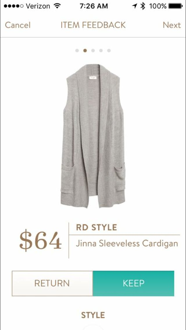 Sleeveless cardigan - good for transitioning to Fall