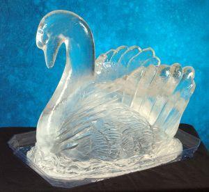 Swan Ice Sculpture
