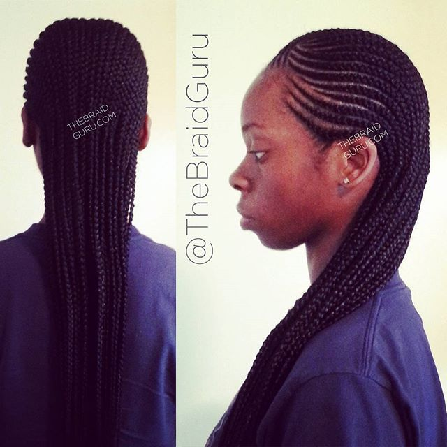 unusual hairstyles : My work! 2 layer cornrows extra long #braids #cornrows #feedincornrows ...