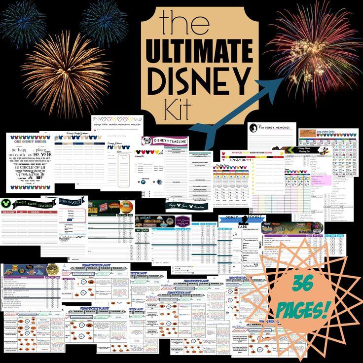 Ultimate Disney Planning Kit  Printable Disney Organization Kit   Disney Planning Aid  Complete Walt Disney World Trip Planning Binder by DigitallyOCD on Etsy