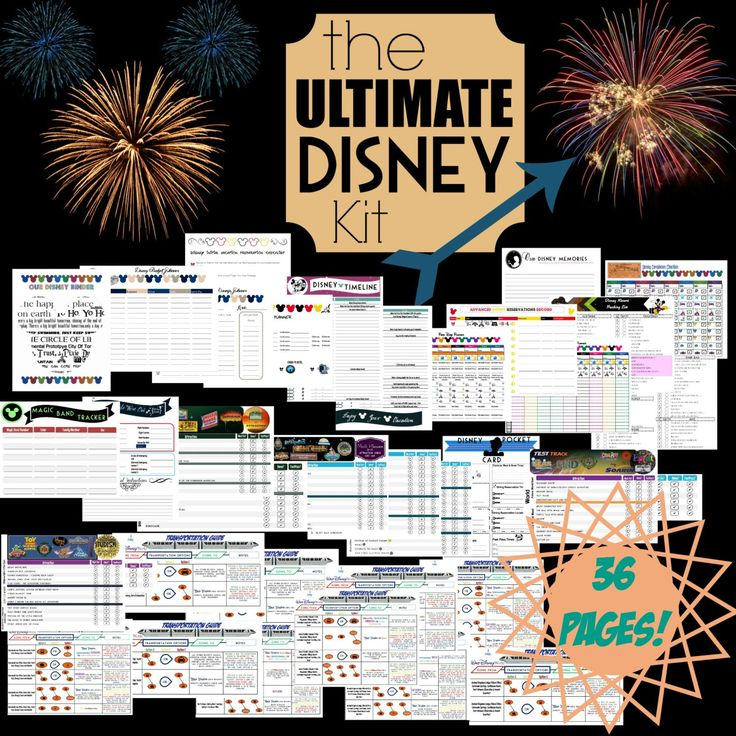 Ultimate Disney Planning Kit| Printable Disney Organization Kit | Disney Planning Aid| Complete Walt Disney World Trip Planning Binder by DigitallyOCD on Etsy