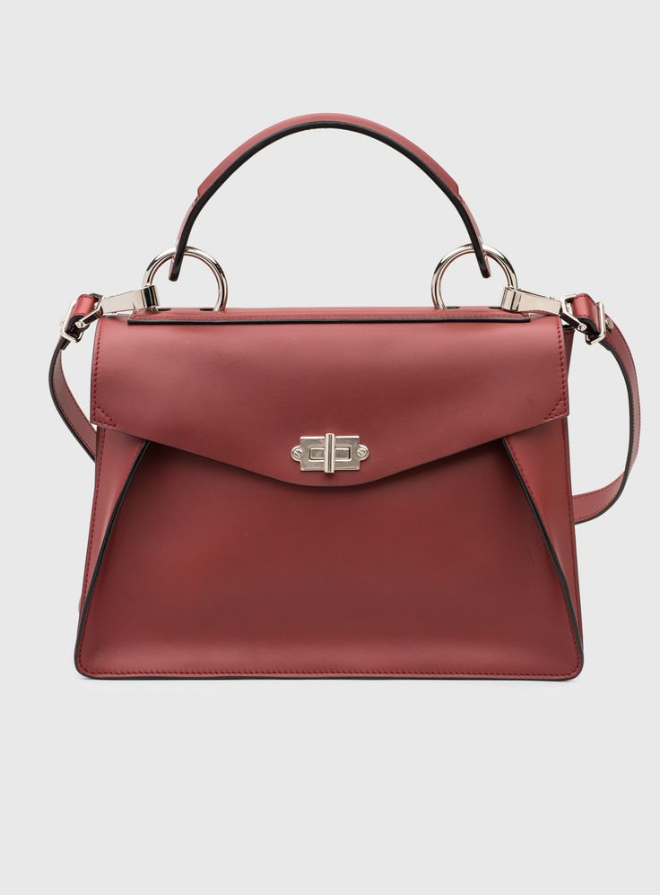 Top Handle Handbag On Sale, Spotted Red, Leather, 2017, one size Essentiel
