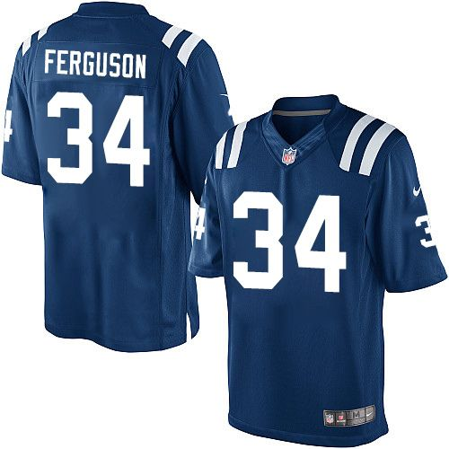 Youth Nike Indianapolis Colts #34 Josh Ferguson Limited Royal Blue Team Color NFL Jersey nfl jersey number 55