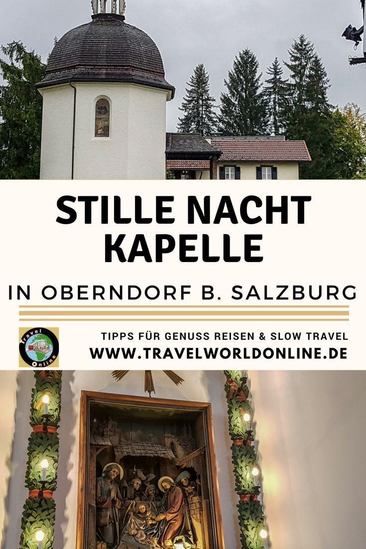 Wie der Liedtext Stille Nacht die Welt eroberte, erfährst Du in der Stille Nacht Kapelle in Oberndorf b. Salzburg. Welche Veranstaltungen an die Schöpfer des weltberühmten Weihnachtslieds erinnern, erfährst Du im Blogartikel.  #weihnachtslieder #stillenacht #stillenachtheiligenacht #weihnachtszeit